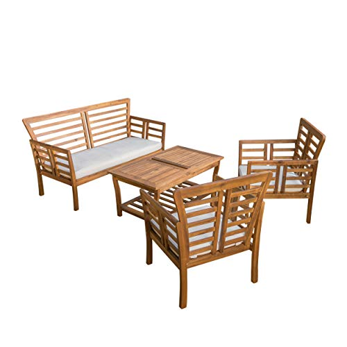 Christopher Knight Home Caydon Outdoor Chat Set, 4-Pcs Set, Brown Patina