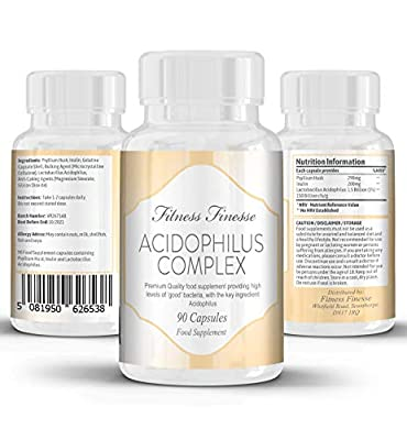 Fitness Finesse Acidophilus Complex 90 Capsules Made in the UK