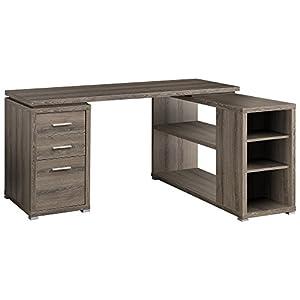 Bargain Price Monarch Reclaimed Look Left Right Facing Corner Desk Dark Taupe Ioffice Furniture Desk