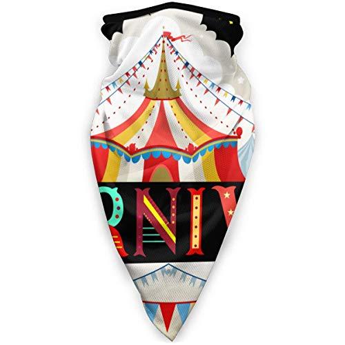 Eternityday Halloween Circus Zelt Karneval Geburtstagsfeier Waschbare und wiederverwendbare Gesichtsmaske Nahtlose Bandanas für Staub, im Freien, Festivals Warmer winddichter Gesichtsschutz