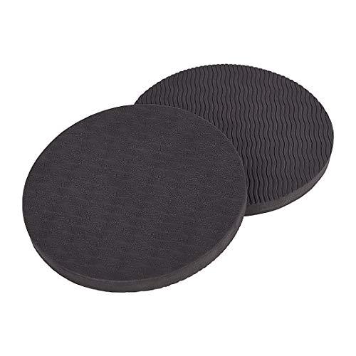 KSS - Alfombrilla Eco para entrenamiento de yoga con apoyo para la protección de rodilla, codo, muñeca (Pack de 2), negro