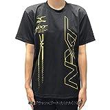 ソフトテニス ウェア Tシャツ ミズノ MIZUNO オリジナル限定カラー N-XT/右胸 & 背中ミズノロゴ入 スポーツ メンズ 半袖 テニス バドミントン ウェア NXT_M_ブラック×ゴールドメタル