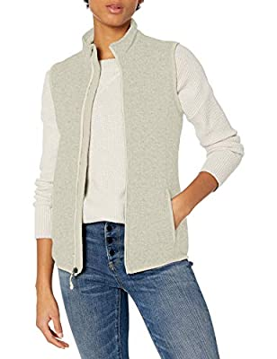 Charles River Apparel Women's Pacific Sweater Fleece Vest, Ivory Heather, M by Charles River Apparel Women's Athletic