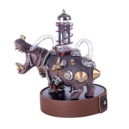ZYLE DIY Metal Mechanical Variant Hippo 3D Assembly Puzzle Model Kit Ornaments Miniature Models Home Decoration For Gifts