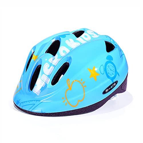 Casco de Ciclismo para niños,Casco de patineta para niños y niñas,Casco de Bicicleta Ligero,Casco de Ciclismo de tamaño Ajustable para Bicicleta de montaña extraíble (53-58 CM)