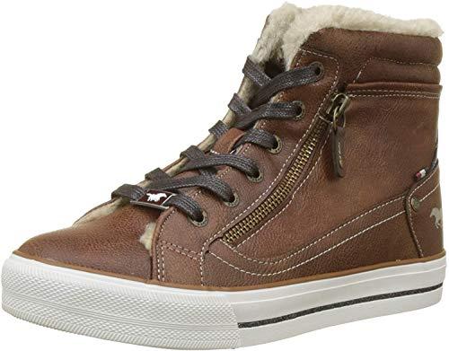 MUSTANG Damen High Top Hohe Sneaker, Braun (Kastanie 301), 39 EU