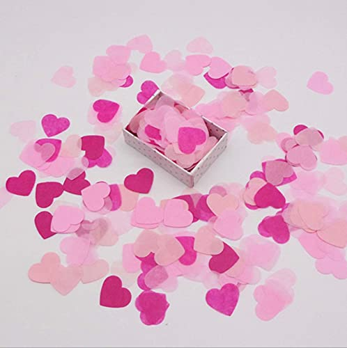 Party Decorations 2.5Cm 1000Pcs Heart Table Confetti Sprinkles Mix Colors Tissue Paper Confetti Decoration Birthday Wedding Party DIY Paper Crafts