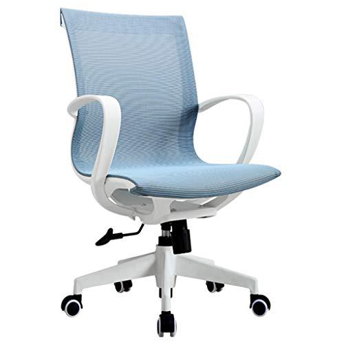 Silla de escritorio Silla de oficina ergonómica de altura ajustable Silla giratoria de Hogares den Belt sedentario cómoda silla de escritorio silla de la computadora Silla de oficina ( Color : Blue )