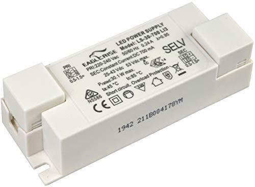 HuaTec Eaglerise LED Trafo 700mA 30W Konstantstrom Flickerfree LED Netzteil Driver Treiber Transformator