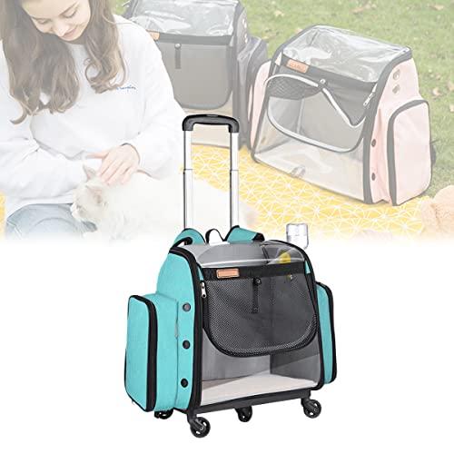 YCRD Mochila para Mascotas con Barra de Carro, asa telescópica, Bolsa portátil para Mascotas Adecuada para Viajes de Mascotas