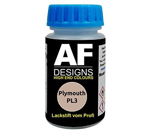Lackstift für Plymouth PL3 Light Taupe Metallic schnelltrocknend Tupflack Autolack