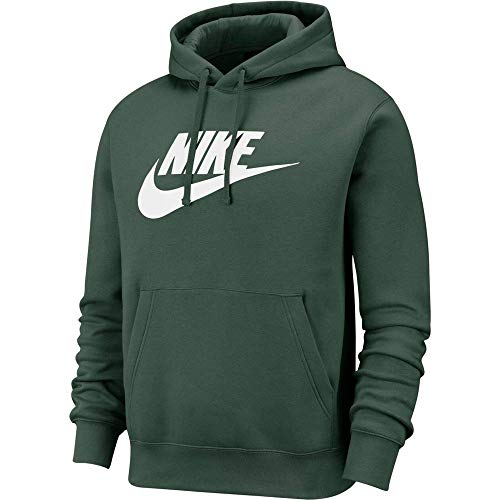 Nike Men's Sportswear Club Fleece Graphic Pullover Hoodie BV2973 (Galactic Jade/Galactic Jade/White, Large)