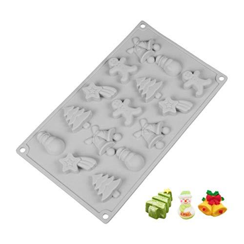 Moule à gâteau en silicone moule de cuisson de Noël fabricant de gâteau poreux au chocolat Podding moule à biscuits accessoires de cuisson de cuisine, comme le montre, Chine