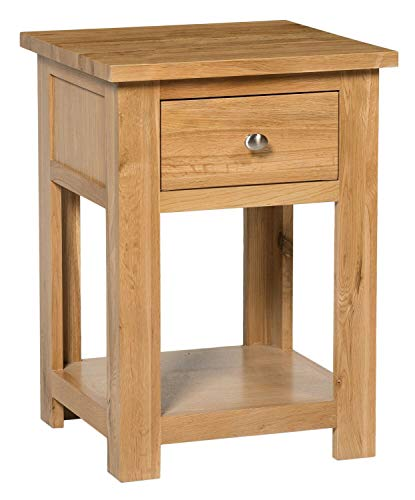 ADHW Small Oak Side Table | Wooden End/Lamp Table | Bedside Cabinet | Nightstand