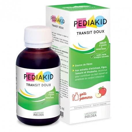 PEDIAKID - Complément Alimentaire Naturel Pediakid Transit Doux - Formule Exclusive au Sirop d'Agave - Contribue à Réguler le Transit en Douceur - Arôme Naturel de Pomme - Flacon de 125 ml
