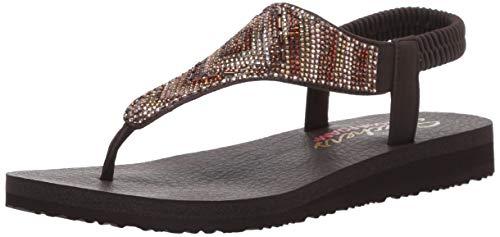 Skechers Women's Meditation - Gypsy Glam - Hooded Aztec Rhinestone Slingback Thong Flip-Flop