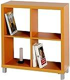 Kit Closet Estantería 'Kubox' 4 huecos naranja