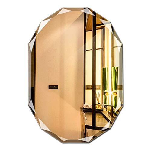 Household Necessities/wandspiegel zonder lijst, spiegel voor badkamer, badkamerspiegel 50*70cm zilver.