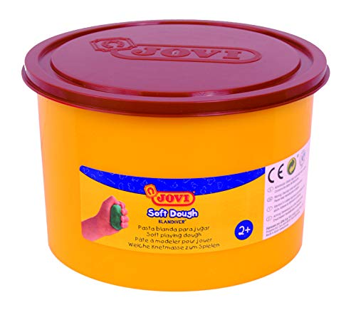 Jovi Soft Dough Blandiver, Bote de 460 g, Color marrón (46009)