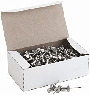 ADVANTUS Aluminum Head Push Pins, Steel 5/8-Inch Point, Silver, 100 per Box (CPAL5)