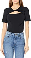 The Drop Women's Astrid Twist Front Stretch Jersey T-Shirt