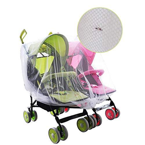 Zwillingskinderwagen Netze Kinderwagen Sonnenschutz UV Moskitonetze Kinderwagen Universal Kinderwagen mit Regenschirmnetz