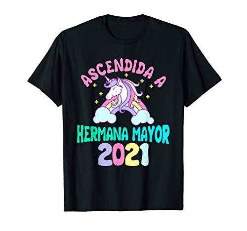 Regalo Ascendida A Hermana Mayor 2021 unicornio Bebé Camiseta
