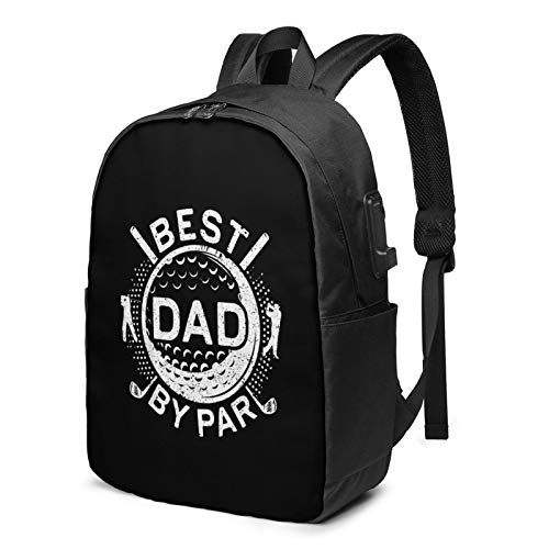 Mens Best Dad by Par Golf -Laptop Backpack,Business Backpack with USB Port Fashionable Backpack for Women & Men School College Students Backpack-17in