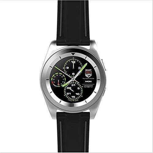 KDSFJIKUYB Smartwatch G6 Mode Sport Bluetooth Smart Watch Frau Mann läuft Smartwatch mit Pulsmesser für Android ISO-Telefon, Leder Silber