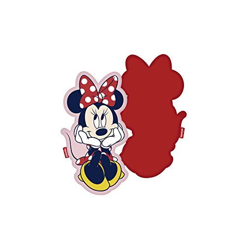 familie24 Frozen Micky Maus Minnie Maus 3D Kissen Velboa Plüsch Kinderkissen Kuschelkissen Motivkissen Dekokissen Kopfkissen Die Eiskönigin Anna ELSA Olaf Sven (Minnie Maus)