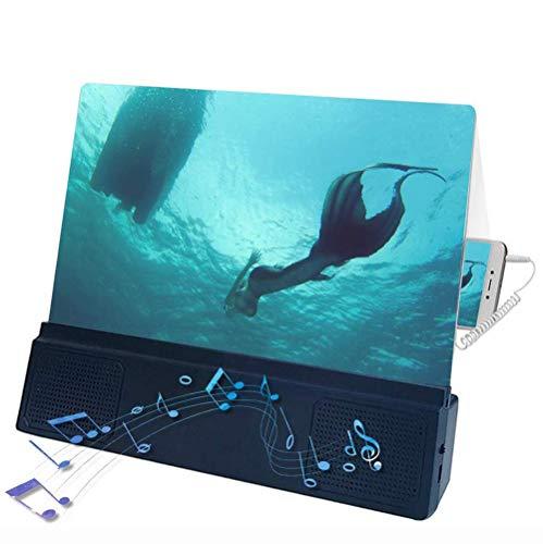 YZT QUEEN schermloep, stralingsvaste HD-smart-screen versterker met luidsprekers, 3-4-voudige vergroting, geschikt voor home theater projectors van alle smartphones