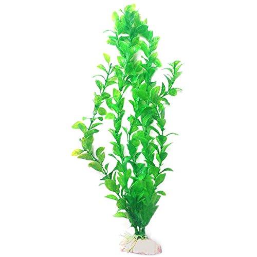 "Cocostore 10.6"" Height Green Plastic Artificial Water Plants for Aquarium Fish Tank"