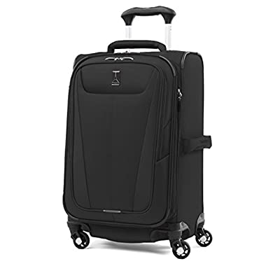 Travelpro Maxlite 5 21  Expandable Carry-on Spinner Suitcase, Black