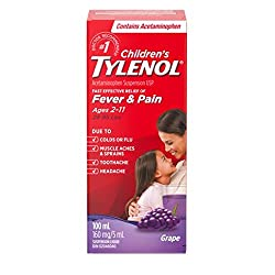 Children's Tylenol to help comfort the during the aches and pains of the flu.