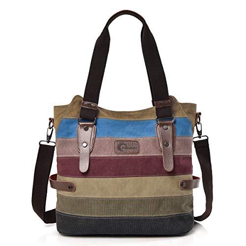 CHEREEKI Bolsos de Mujer, Bolsos para Buen tamaño y Varios Bolsillos, Bandolera o con Las Asas (Multi-Color)