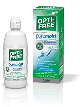 Opti-Free Puremoist Multi-Purpose Disinfecting Solution with Lens Case 10-Ounces 10 FL Oz  Pack of 1