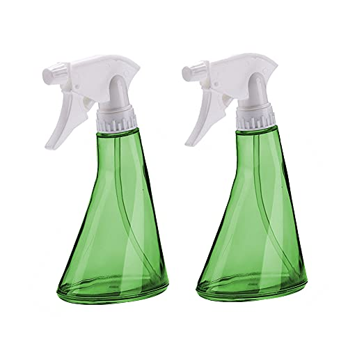 Tongyundacheng 2 botellas de spray de agua, botellas de pulverización de nebulización, botellas de plástico vacías reutilizable, para limpiar de cocina, jardinería, viajes, 370 ml