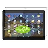 VacFun 4 Piezas HD Claro Protector de Pantalla para BEISTA K107 10' Tablet 3G Dual, Screen Protector Sin Burbujas Película Protectora (Not Cristal Templado)