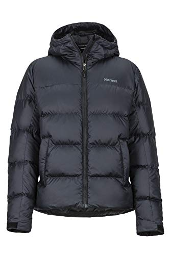 Marmot Damen Ultra-leichte Daunenjacke, 700 Fill-Power, Warme Outdoorjacke, Wasserabweisend, Winddicht Wm's Guides Down Hoody, Black, S, 79300