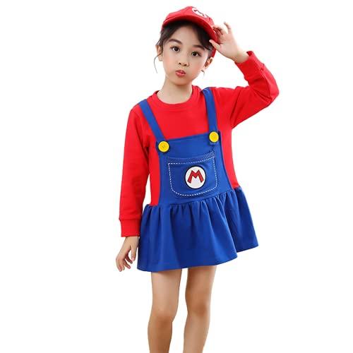 Guinea pig Ropa de Navidad de Año Nuevo, Vestido de Babero para niños de Super Mario, Disfraz de Cosplay de Luigi, Conjunto Familiar de Anime, Regalos para niños y niñas