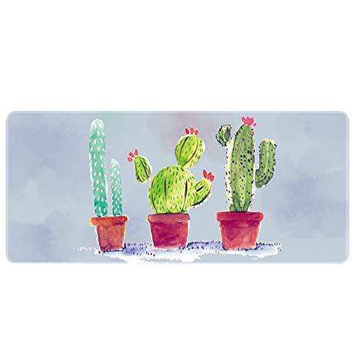 Demarkt Office muismat gaming muismat groot muismat, cactus 120x60x0.3cm grijs