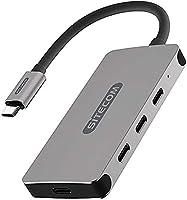 Sitecom CN-386 USB-C hub 4 poorten, USB-C naar 3X USB-C + 1x UBS-C Power Delivery Port-adapter met 10 Gbit/s gegevens,...