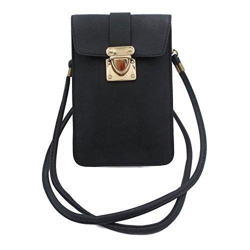 MiCoolker Womens Small Travel Phone Purse Luxury Matte PU Leather Crossbody Single...