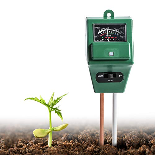 Wallfire Soil pH Meter, Digital 3-in-1 Soil Test kit for Moisture/Sunlight & pH Testing with Probe Sensor for Home and Garden, Plants, Lawn, Farm, Herbs & Gardening Tools, Indoor/Outdoor Use.