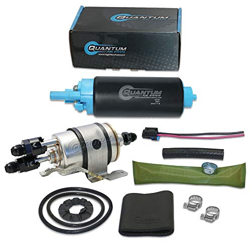 HFP-367-F2-AN68 Quantum TBI to LSX Swap Direct Fit Fuel Pump 58PSI (LM7 LR4 LQ4 LQ9 L33) w/Fuel Pressure Regulator/Filter + Fittings, Replacement for GM (1982-1995), Replaces EP381