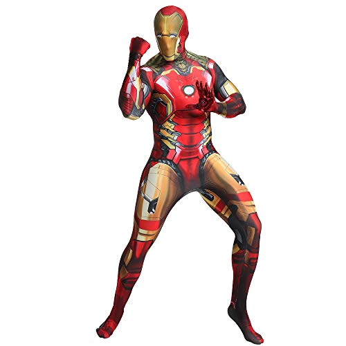 FYBR - Costume da Iron Man, in Lycra, per Adulti, Unisex, Extra Large