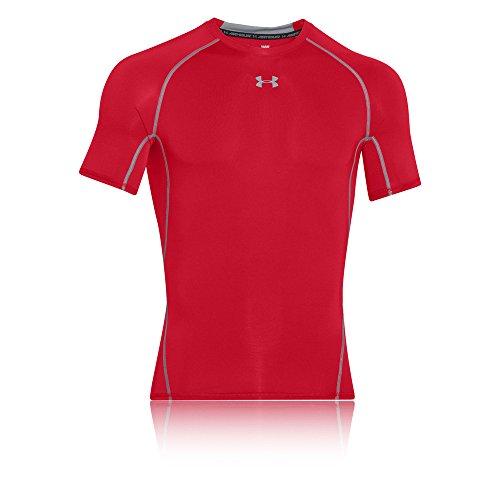 Under Armour Herren UA HeatGear Short SleeveFunktionsshirt, Rot (Red/Steel (600)), Medium
