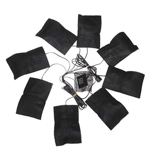 Viviance ZHVIVY 8 in 1 USB 5 versnellingen kleding verwarmingskussen instelbare temperatuur thermische kleding jas elektrisch
