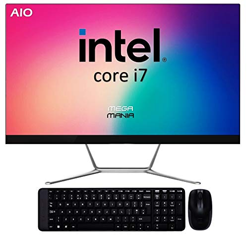 Ordenador All In One Megamania PC AIO Intel Core i7 up to 4.7Ghz x 8 Cores | NVME 512GB | 16GB DDR4 | WiFi |Teclado y ratón inalambrico