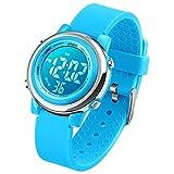 Reloj digital deportivo para niños, reloj para deportes al aire libre, resistente al agua, con cronómetro, alarma y...